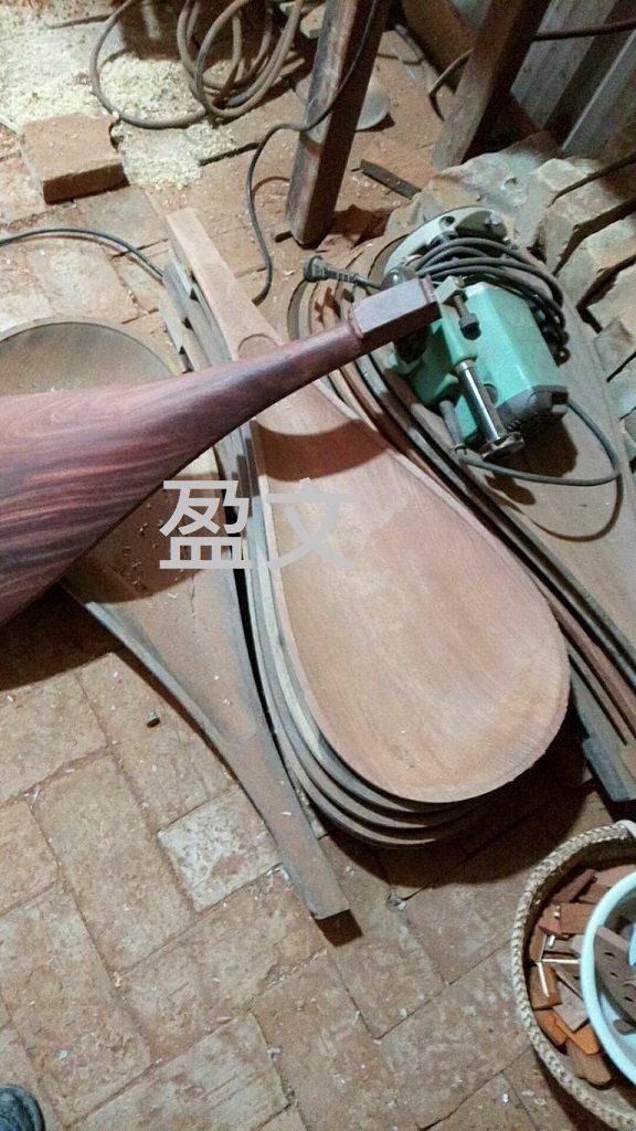 紅木琵琶底板